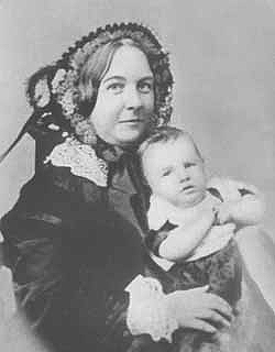 Elizabeth Cady Stanton with daughter Harriot, 1856