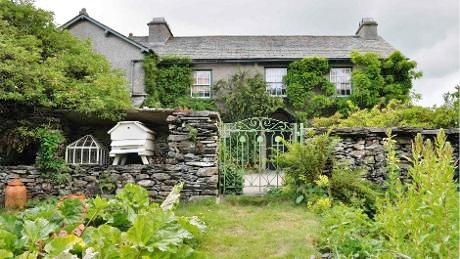 Beatriix Potter's vegetable gardent at Hill Top, Cumbria, UK